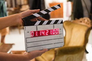 Produktion digital Movie clapper board